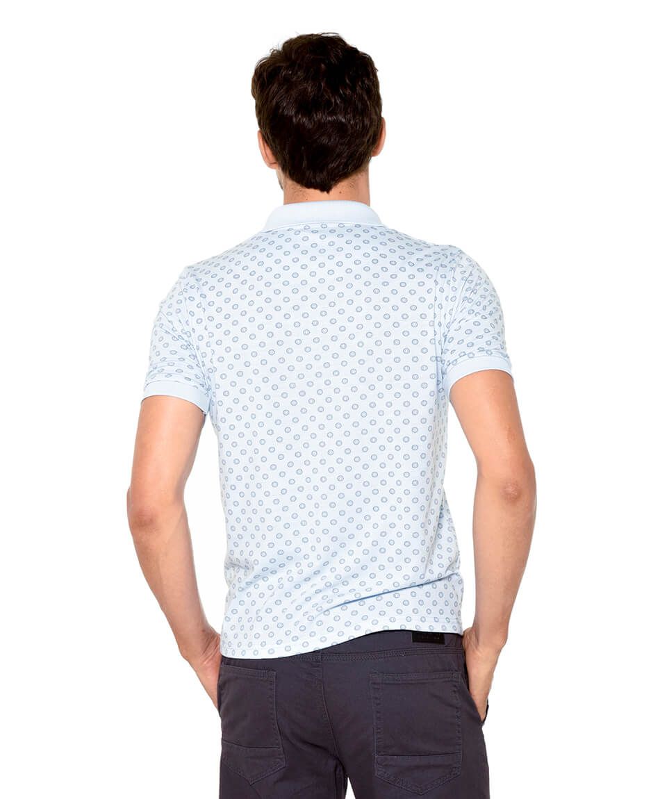 POLERA CUELLO POLO ESTAMPADA