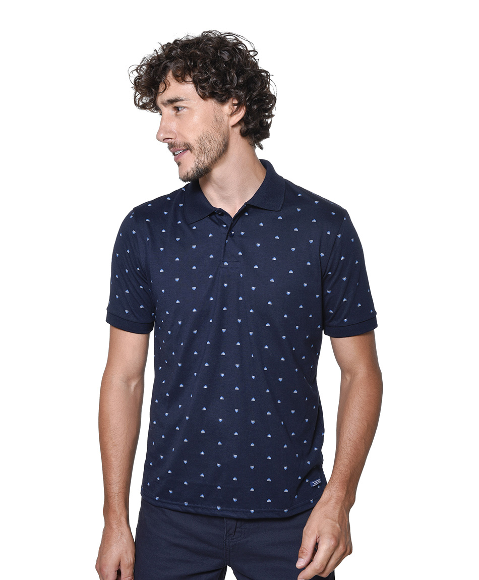 POLERA POLO ESTAMPADA