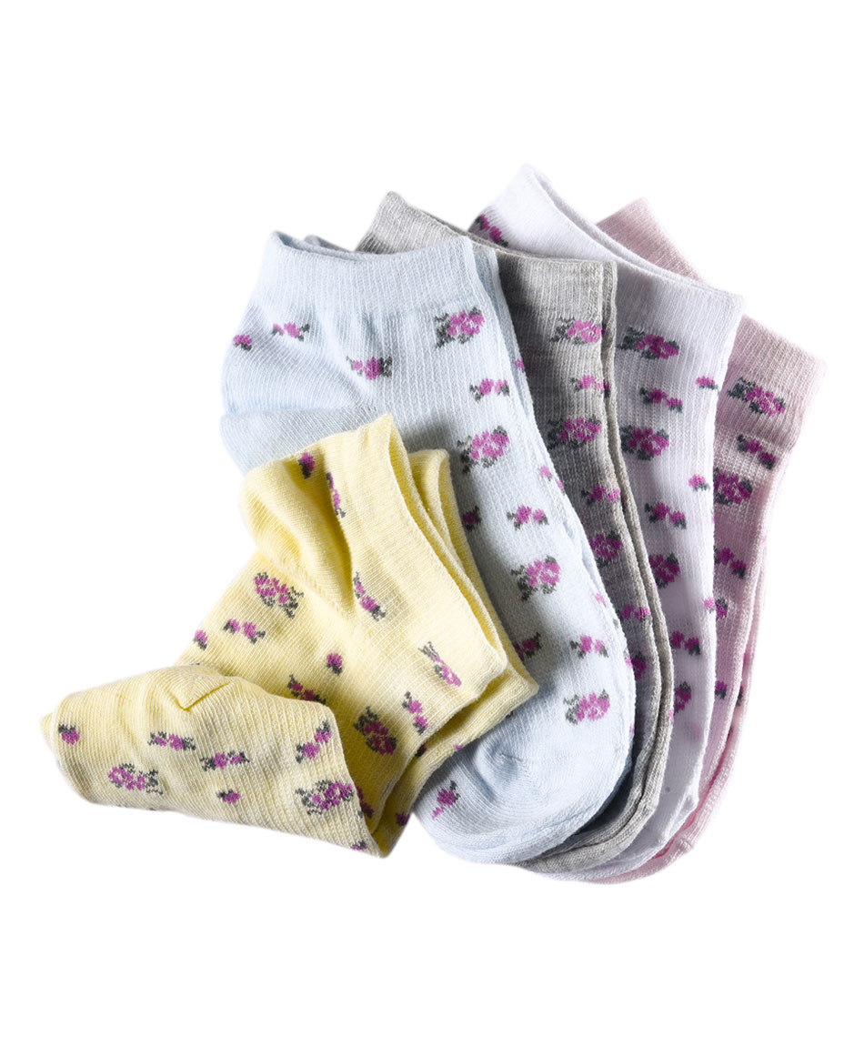 PACK X 5 CALCETINES FLORAL