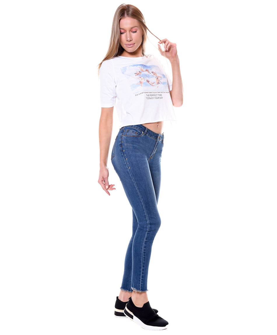 JEANS TACHAS LATERAL