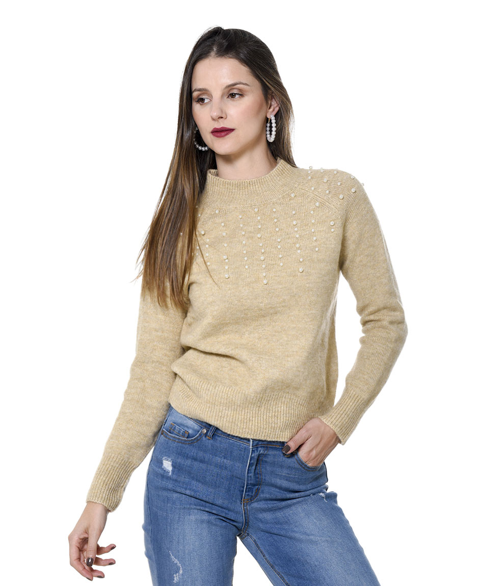 SWEATER CON PERLAS